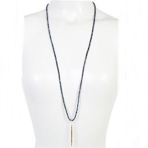 Gorjana Nora Long Beaded Pendant Necklace